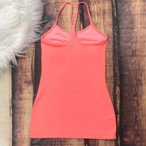 Lululemon Pink Hot Coral Power Y Tank Top